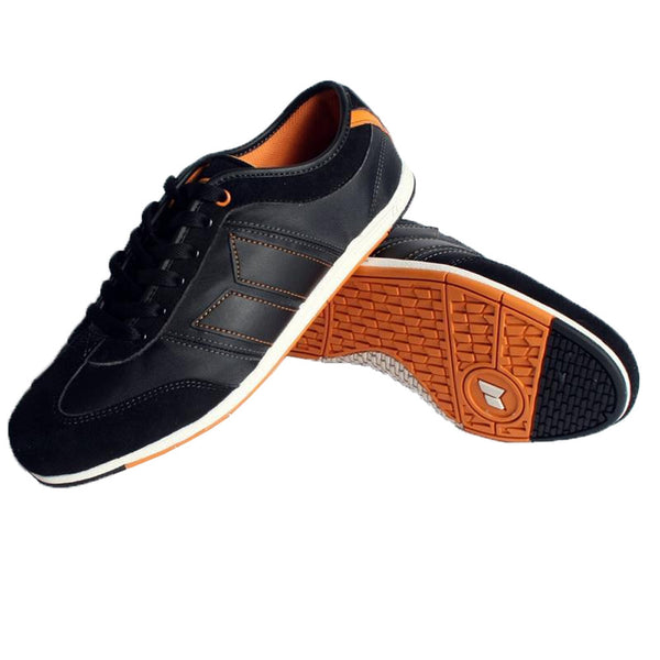 Macbeth - Brighton DeLonge Studio Black & Orange Shoes