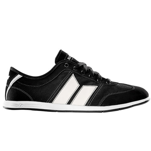 Macbeth - Brighton Black & White Suede & Canvas Shoes