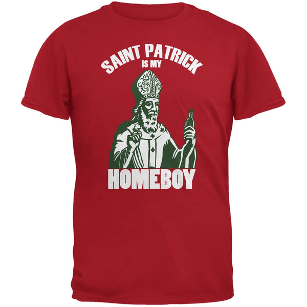 St. Patricks Day - St Patrick Is My Homeboy Red Adult T-Shirt