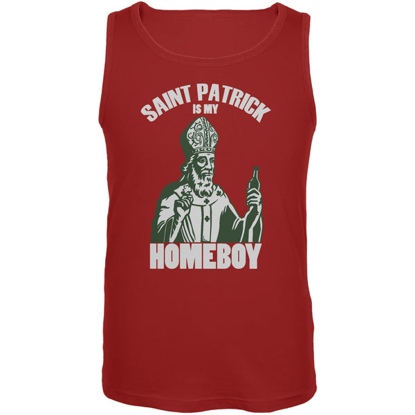 St. Patricks Day - St Patrick Is My Homeboy Red Adult Tank Top