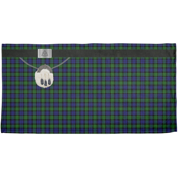 St. Patricks Day - Kilt Black Watch Scottish Plaid Costume All Over Beach Towel