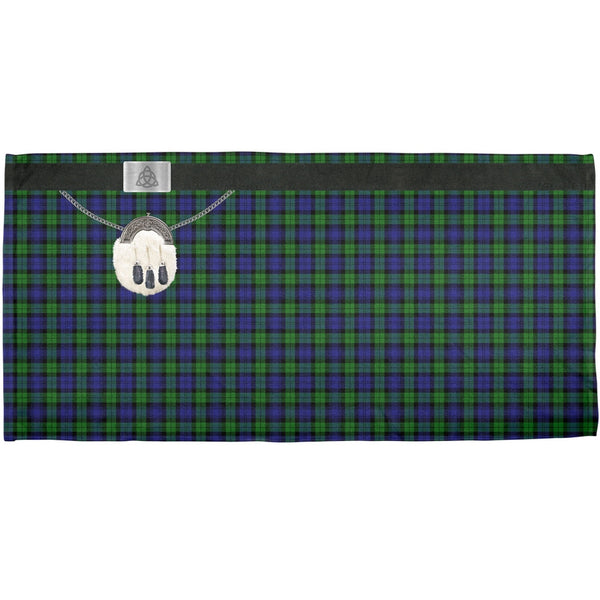 St. Patricks Day - Kilt Black Watch Scottish Plaid Costume All Over Bath Towel
