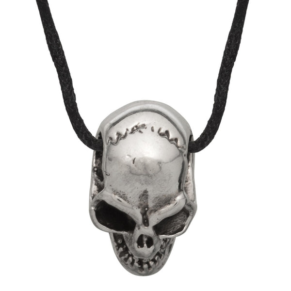 Evil Skull Sterling Silver Pendant Necklace