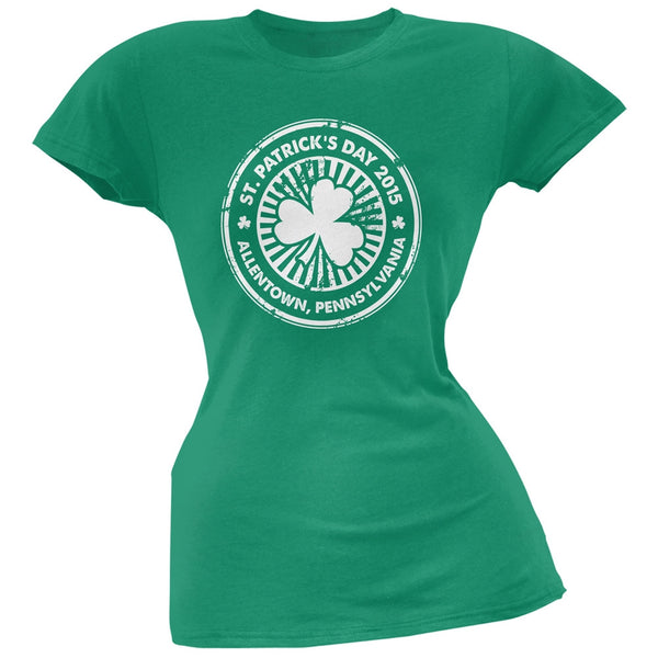 St. Patrick's Day - Allentown PA Kelly Green Juniors Soft T-Shirt