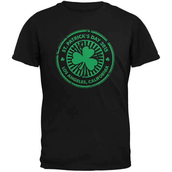 St. Patrick's Day - Los Angeles CA Black Adult T-Shirt