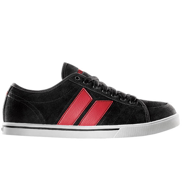 MacBeth - Manchester Black & Red Suede Shoes