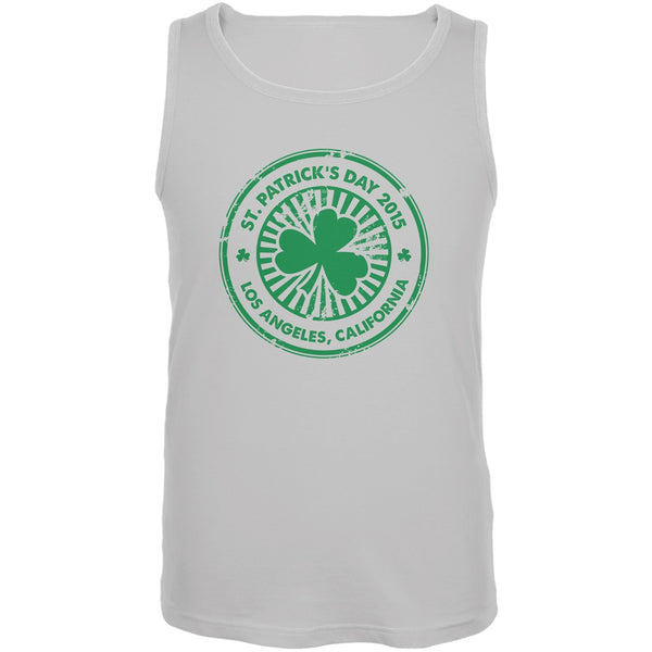 St. Patrick's Day - Los Angeles CA White Adult Tank Top