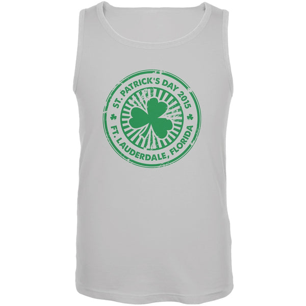 St. Patrick's Day - Ft. Lauderdale FL White Adult Tank Top