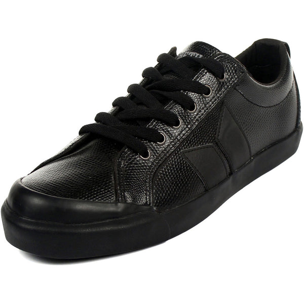 MacBeth - Eliot Premium Black & Snake Leather Shoes