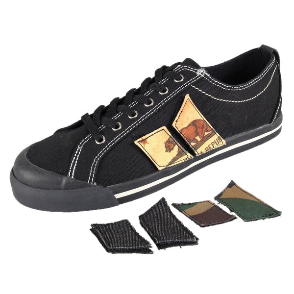 MacBeth - Eliot Black Velcro Pennant Patch Shoes