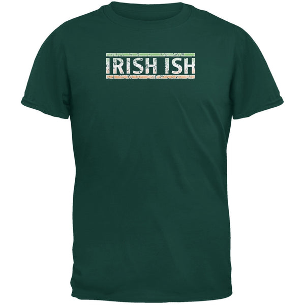 St Patricks Day Irish Ish Funny Forest Green Youth T-Shirt