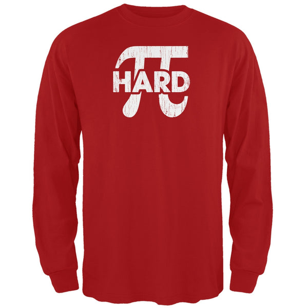 Pi Hard Red Adult Long Sleeve T-Shirt