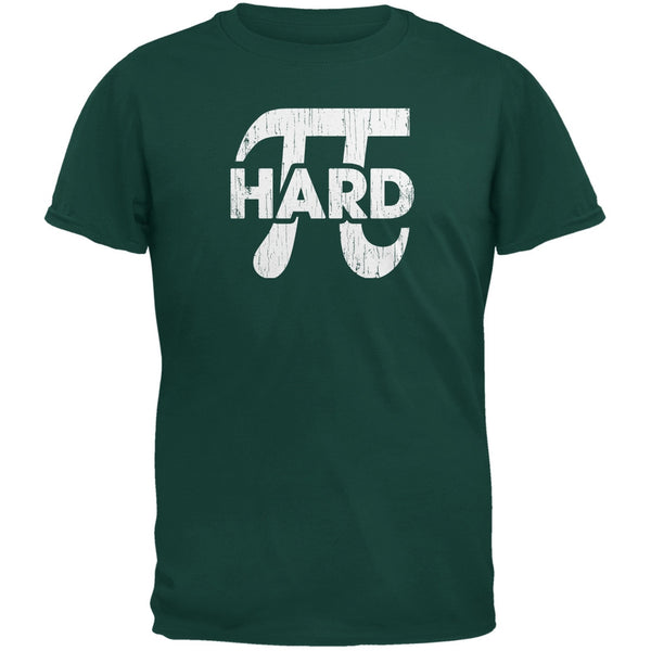 Pi Hard Forest Green Adult T-Shirt