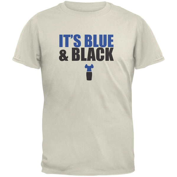 It's Blue And Black Natural Adult T-Shirt