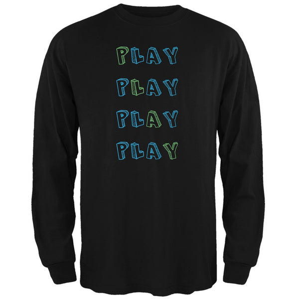 All About Play Black Adult Long Sleeve T-Shirt