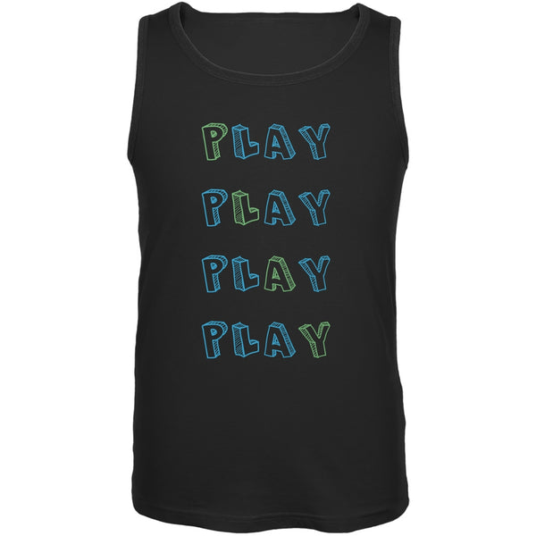 All About Play Black Adult Tank Top