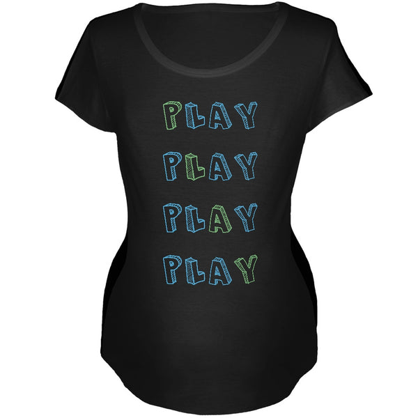 All About Play Black Soft Maternity T-Shirt