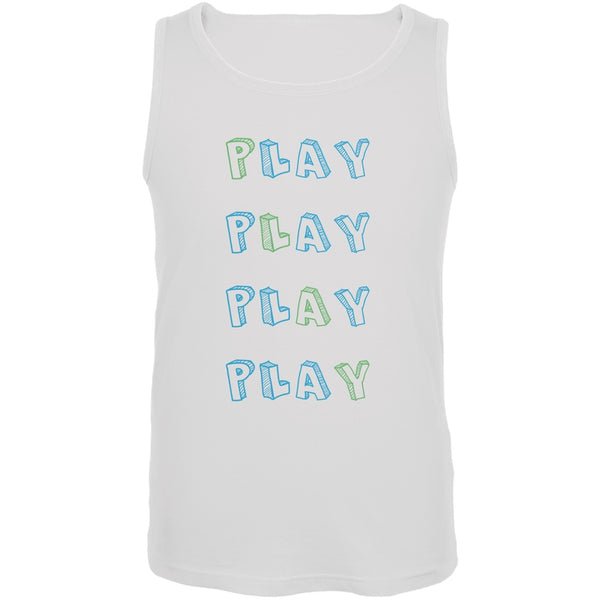 All About Play White Adult Tank Top