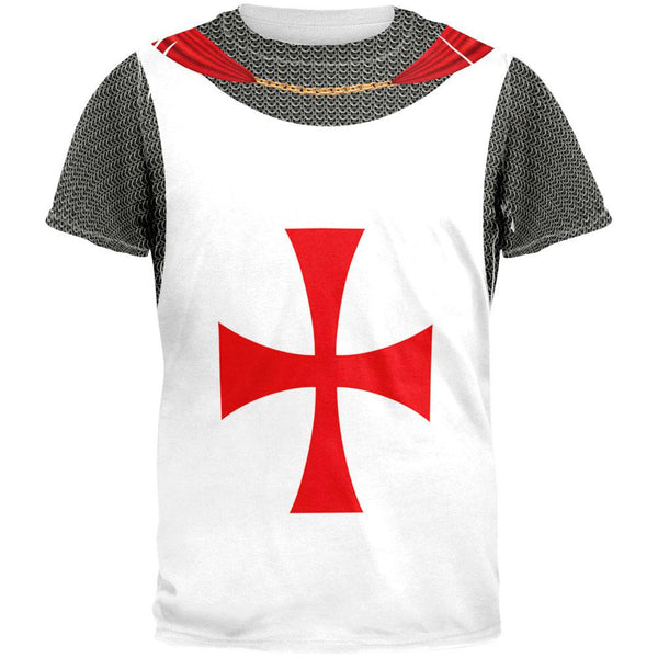 Knights Templar Costume All Over Adult T-Shirt