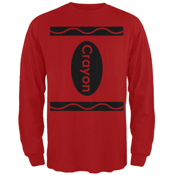Halloween Crayon Costume Red Adult Long Sleeve T-Shirt