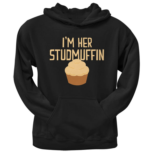 I'm Her Studmuffin Black Adult Hoodie