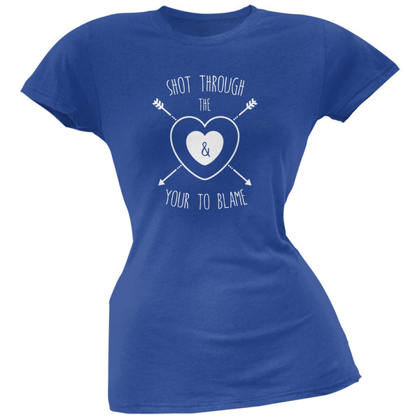 Shot Through The Heart Royal Soft Juniors T-Shirt