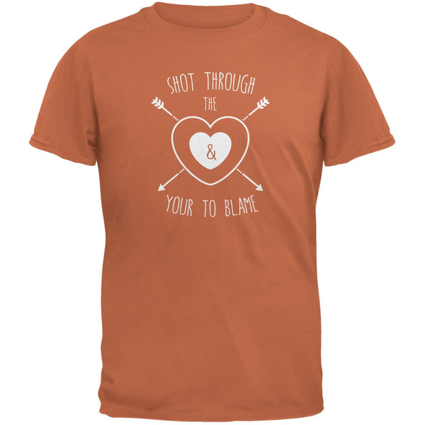 Shot Through The Heart Texas Orange Adult T-Shirt