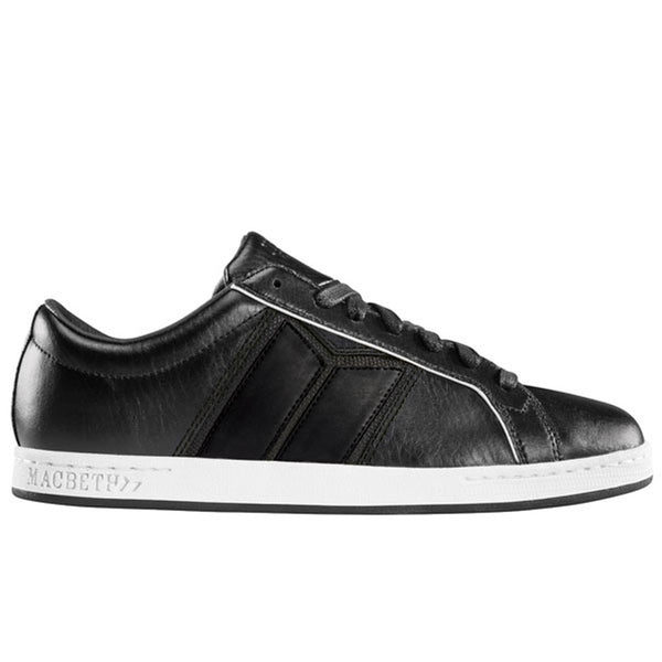 Macbeth - Winston Black & White Leather Shoes