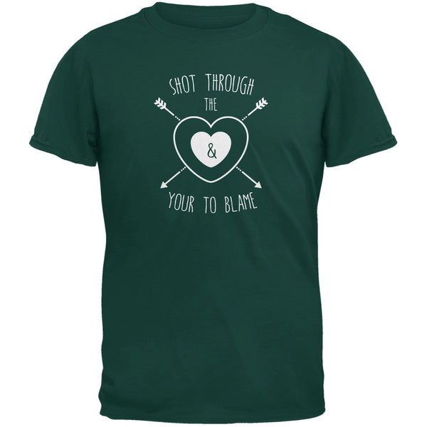 Shot Through The Heart Forest Green Youth T-Shirt