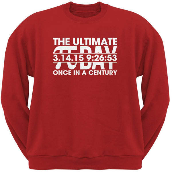 The Ultimate Pi Day 3.14.15 Red Adult Sweatshirt