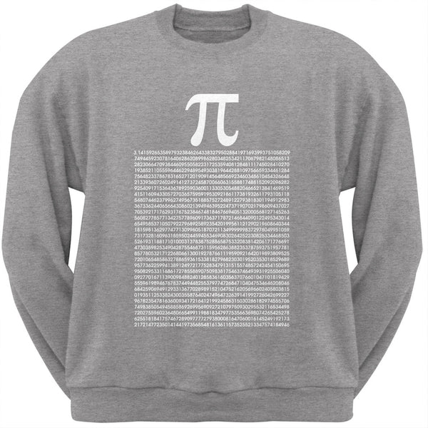 Pi Numbers Heather Grey Adult Sweatshirt