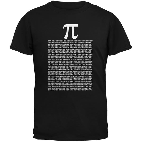 Pi Numbers Black Adult T-Shirt