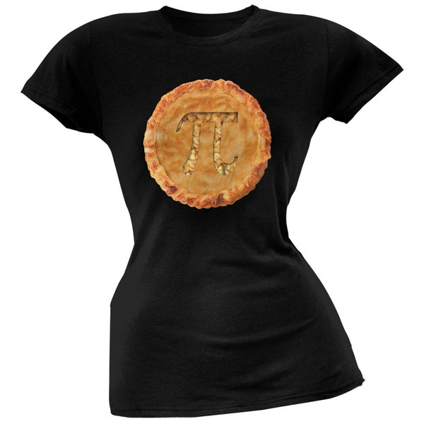 Pi Pie Black Soft Juniors T-Shirt