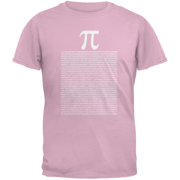 Pi Numbers Light Pink Adult T-Shirt