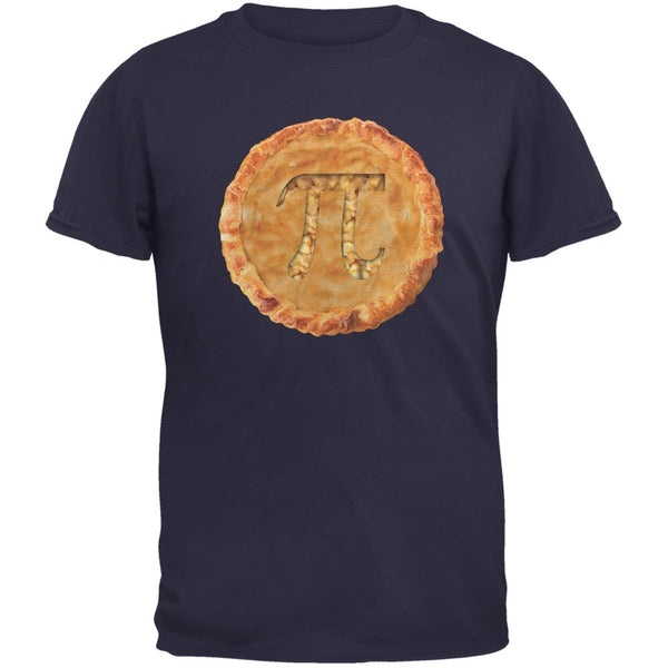 Pi Pie Navy Adult T-Shirt