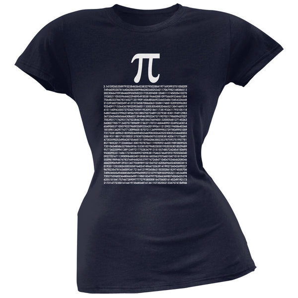 Pi Numbers Navy Soft Juniors T-Shirt