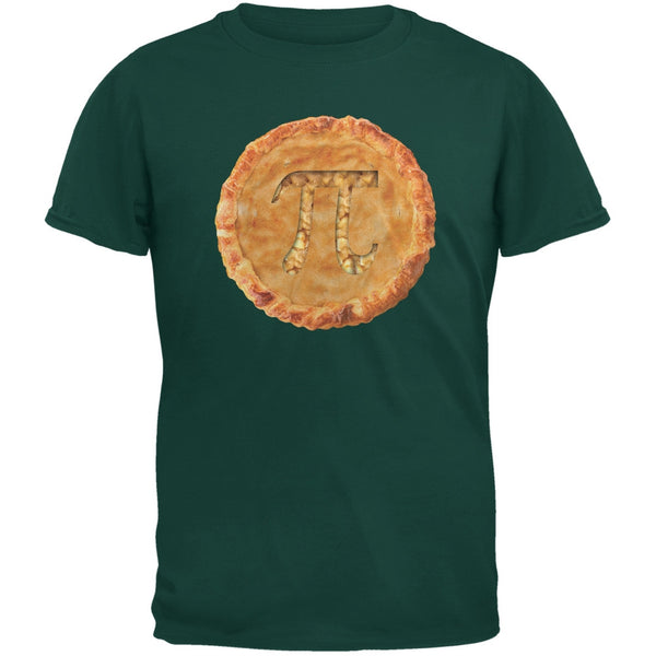 Pi Pie Forest Green Adult T-Shirt