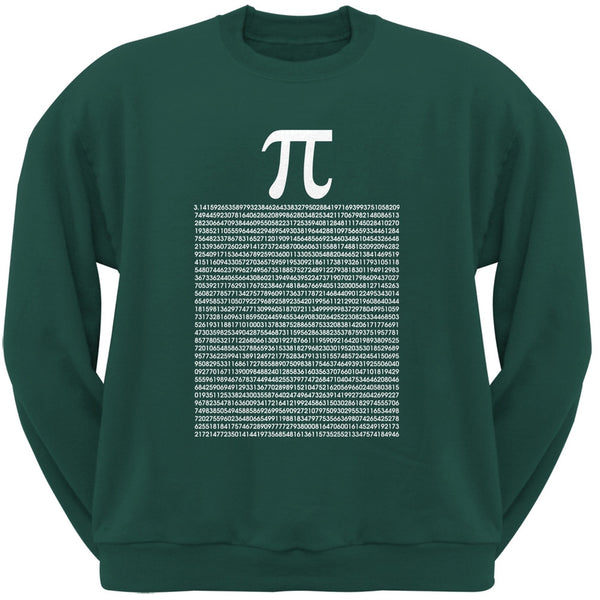 Pi Numbers Forest Green Adult Sweatshirt