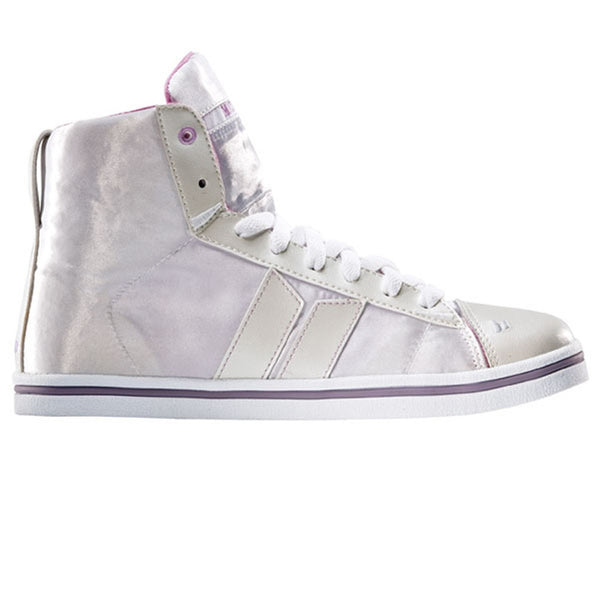 Macbeth - Nolan Satin Pearl & Orchid Women's High Top Sneakers