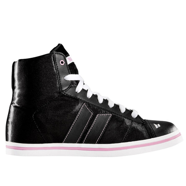 Macbeth - Nolan Black & Orchid Satin Women's High Top Sneakers
