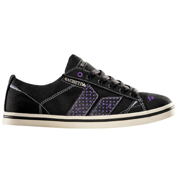 Macbeth - Newman Black Purple & Static Dots Women's Shoes