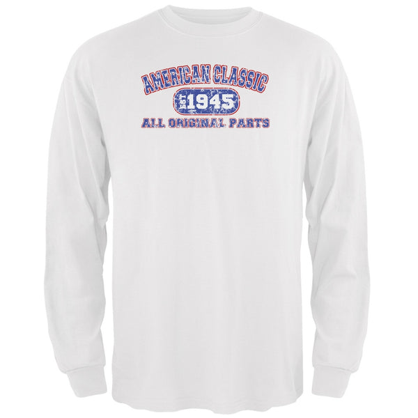 Classic American 1945 Funny White Adult Long Sleeve T-Shirt