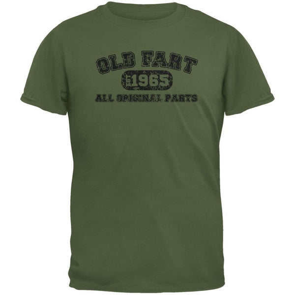 Old Fart Original Parts 1965 Funny Military Green Adult T-Shirt