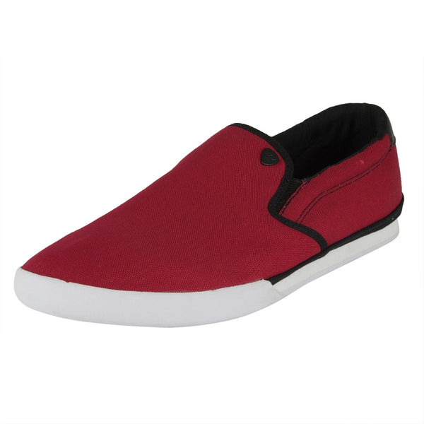 Macbeth - McQueen Red & White Canvas Shoes