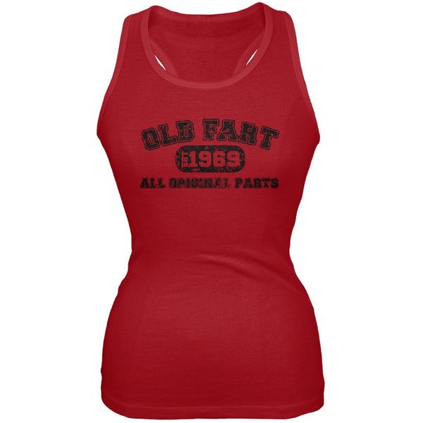 Old Fart Original Parts 1969 Funny Red Juniors Soft Tank Top