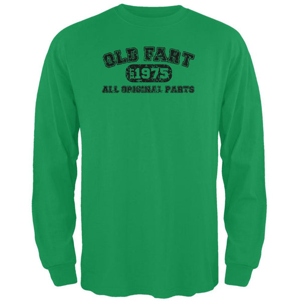 Old Fart Original Parts 1975 Funny Green Adult Long Sleeve T-Shirt