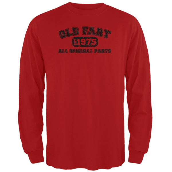 Old Fart Original Parts 1975 Funny Red Adult Long Sleeve T-Shirt
