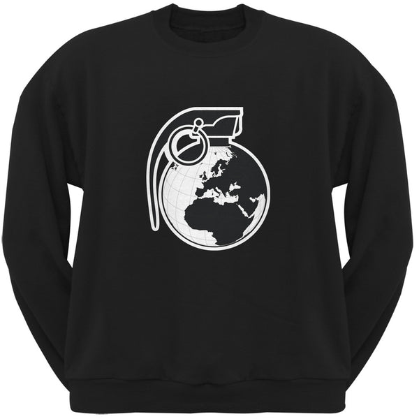 Grenade Globe Black Adult Sweatshirt