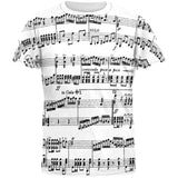 Music Staff All Over Adult T-Shirt