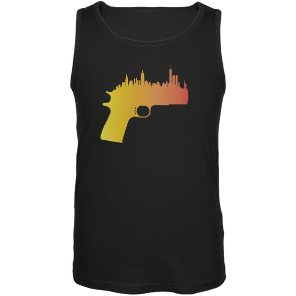 1911 Skyline Black Adult Tank Top